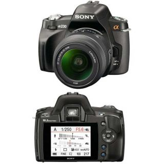 Sony Alpha DSLR A230 10.2MP Digital SLR Camera with Sony 18 55mm Lens