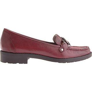 Womens Anne Klein Lila Wine Dark Red Leather