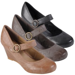 Journee Collection Womens Olson Faux Leather Round Toe Mary Janes
