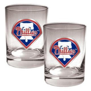 Great American MLB Logo Rocks Glass Set