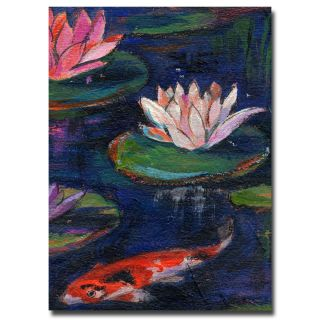 Sheila Golden Lily Pod Canvas Art