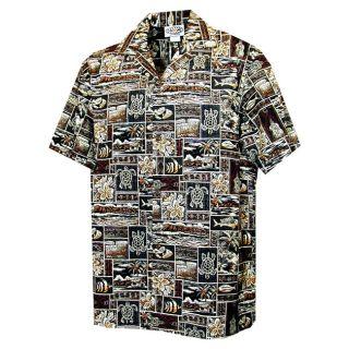 Turtle Tapa Boys Brown Hawaiian Aloha Shirt