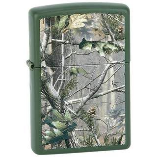 Zippo Matte Green Finish and Realtree APG Camo Pattern Lighter