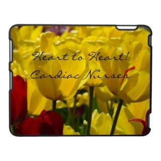 Cardiac Nurses Floral iPad cases TULIP FLOWERS gifts, Heart to Heart