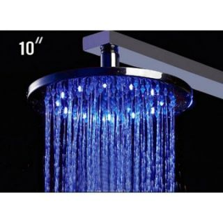 ALFI 10 Inch Round Multi Color LED Rain Shower Head   Shower Faucets