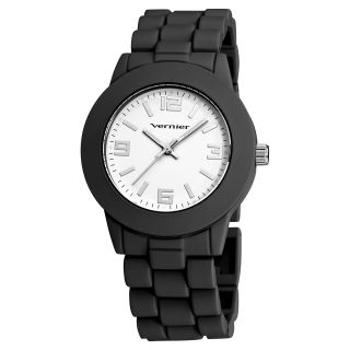 Vernier Womens Simple Beauty Basic Soft Touch Matt Black Watch