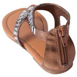 Journee Collection Girls Oba 9 Embellished T strap Sandals