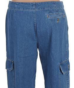 Liz Claiborne Light Blue Cargo Jeans
