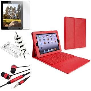 BasAcc Bluetooth Keyboard Case/ Protector/ Headset for Apple iPad 4