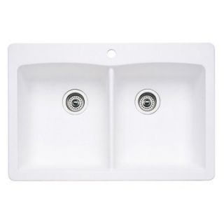 Blanco Diamond Silgranit II Double Bowl Drop In Kitchen Sink   Kitchen