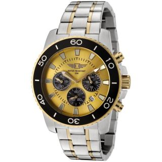 by Invicta Mens Two tone Chronograph Watch