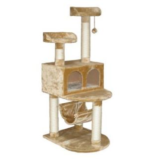 Go Pet Club Cat Tree   Beige   54 in.   Cat Trees