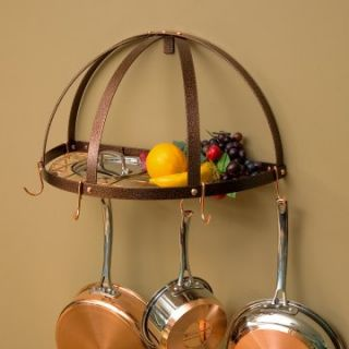 The Gourmet Half Dome Pot Rack with Grid   Wall Pot Racks