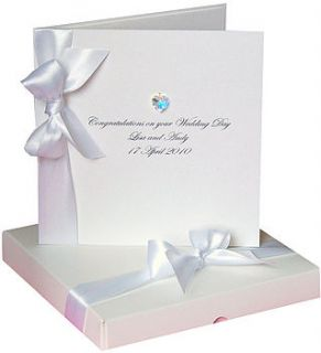 bedazzled swarovski heart wedding card boxed by made with love designs
