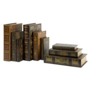 Mendez Book Boxes   Set of 9   Trinket Boxes