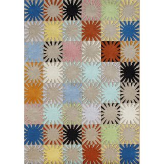 Alliyah Kids Handmade Tufted Multi Color New Zealand Blend Wool Rug (8