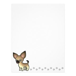 Cartoon Chihuahua (fawn sable smooth coat) letterhead by SugarVsSpice