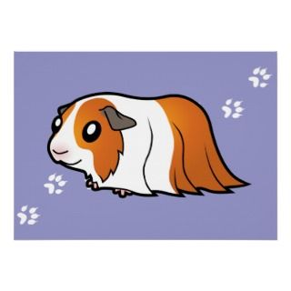 Cartoon Guinea Pig (red dutch) posters by SugarVsSpice