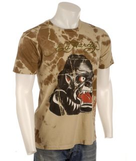 Ed Hardy Mens Natural Aged Gorilla T shirt