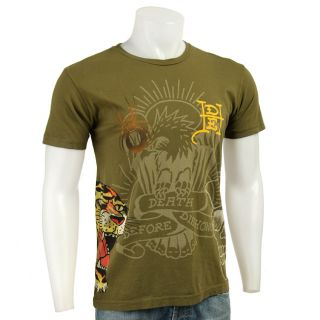 Ed Hardy Mens Short sleeve Roaring Tiger Shirt