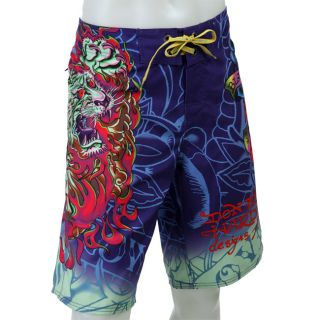 Ed Hardy Mens Tiger of Death Board Shorts