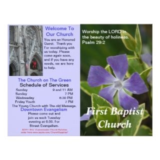 Church Bulletin (Outside Only) Letterhead Design
