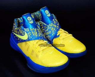 2012 Nike Zoom KD IV 4 Scoring Title Yellow Blue 473679 703 US 11 in