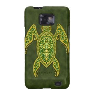 Intricate Golden Green Sea Turtle Samsung Galaxy S Cover