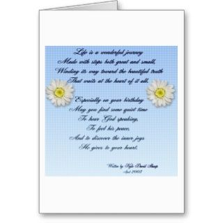 Wonderful Journey Birthday Poem Card