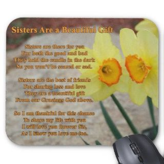 Sisters poem Mousepad