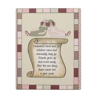 Prim Sisters Poem Plaque
