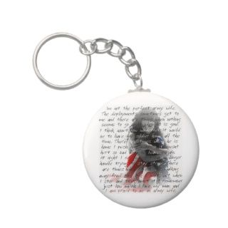 army wife poem key chain