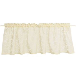 Commonwealth Home Fashions Isabella Lace Curtain Valance   16x60