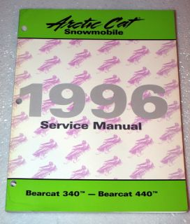 1996 Arctic Cat Bearcat 340 440 Snowmobile Factory Shop Service Repair