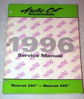 1996 Arctic Cat Bearcat 340 440 Snowmobile Factory Shop Service Repair