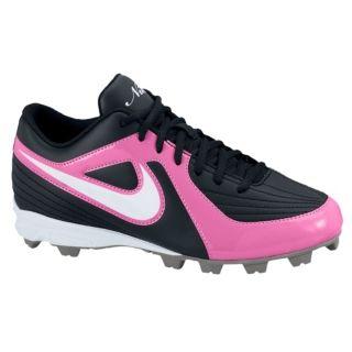 Nike Unify Keystone Womens Softball Shoes Black/White/Pink