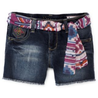 i jeans by Buffalo Sash Belt Shorts   Girls 7 16 customer