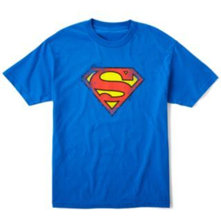 Superman Logo T Shirt   Big & Tall