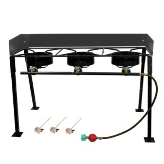 25 Portable Propane Camp Stove with Triple Burner