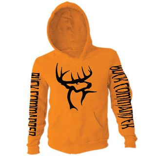 Buck Commander Mens Orange Hoodie