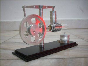 Walking Beam Hot Air Stirling Engine no steam gift FREE SHIPPING