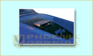 1971 Dodge Charger R T RT Hood Blackout Decals with R T Cutout
