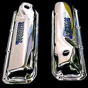 Chrome Ford emblem 351 C valve covers fits 351 cleveland engines in