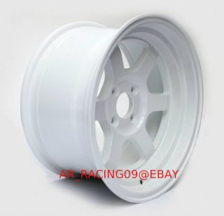 Rota Grid V 15x8 4x100 0 White Civic Miata MR2 Integra Del Sol XB Mini