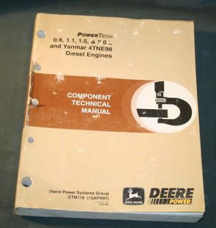 Powertech 9 2 0 Yanmar 4TNE98 Diesel Engines Technical Manual