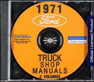 1971 Ford Truck Shop Manual Set CD Pickup Van Bronco F100 F250 F350