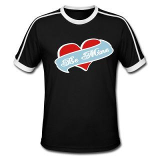 Be Mine Heart Banner Tattoo T Shirt 5597927