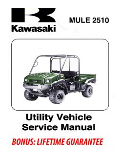 Kawasaki Mule 2500 2510 2520 Gas ATV Shop Manual