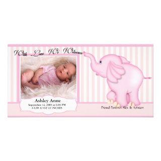 Elefant süße Baby Geburt Fotokarte