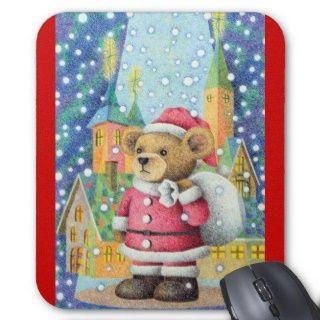 Weihnachtsbild   Vater Weihnachten im Teddybären Mousepad